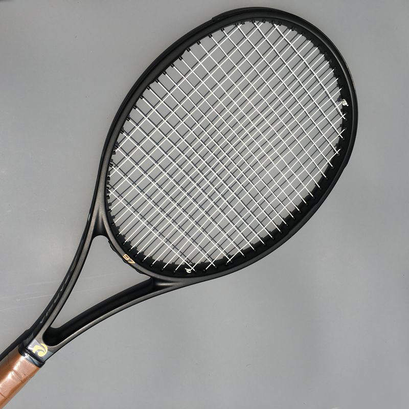 (2 pcs/lot) 2017 ZARSIA NEW High quality Tennis Racquets 100% carbon 315g 97sq.in tennis rackets Full black 41/4,43/8,41/2 аксессуар для волос brand new 2 lot hairdisk