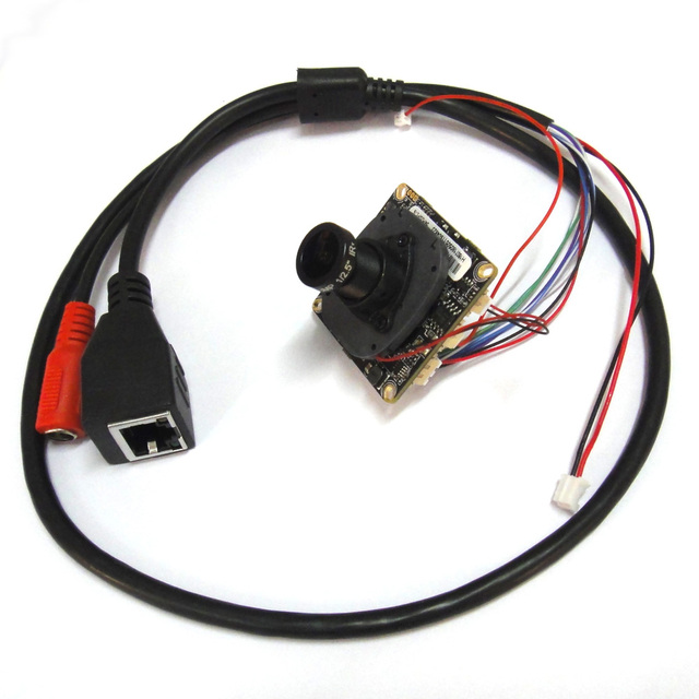 HD CCTV 1080P 2MP Starlight low illumination Network IP Camera Module PCB board, 3.6mm 3mp lens