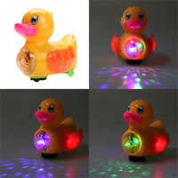 2016 New Baby Toys Electric Duckling Flashing LED Light Kids Children Developmental Music Toy For Children