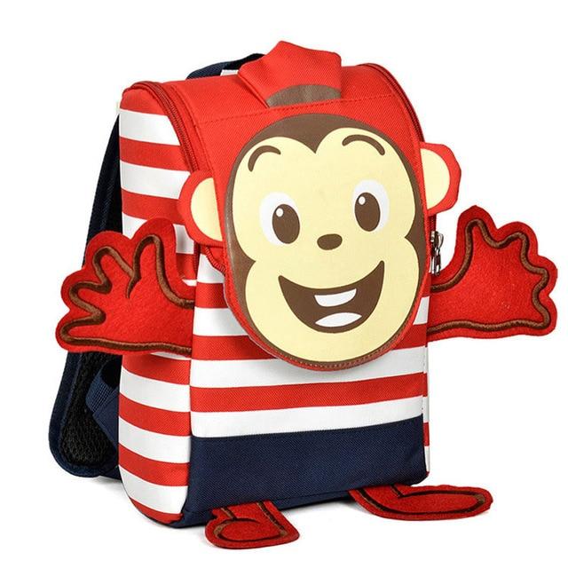 2016 Fashion Cartoon Monkey Kindergarten Bag Kid Bags Children School Bags Girl Mochila Infantil Boy Backpacks