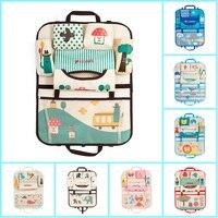 Cartoon Animal Car Seat Back Child Paper Napkin Debris Bottle Cup Tablet Hanging Storage Bag Oxford