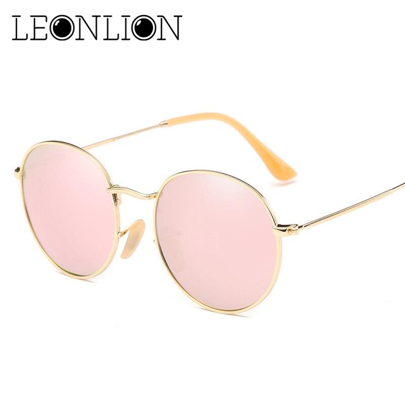 LeonLion 2018 Round Sunglasses Women Brand Designer Sun Glasses For Women Candies Lens Oculos De Sol Gafas Retro Glasses UV400