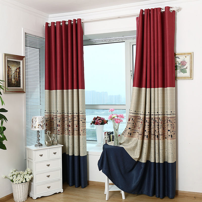 Blackout bedroom window curtains for children blue baby - Childrens bedroom blackout curtains ...