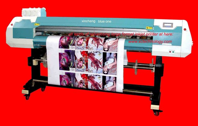 eco solvent outdoor printer with original Espon DX5 head for printing flex,vinyl and solvent media