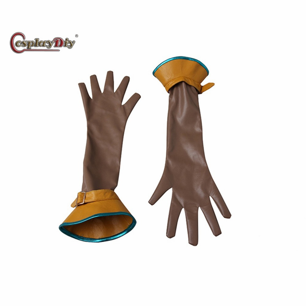 Cosplaydiy Game The Witcher 3: Wild Hunt Cirilla Gloves Adult Women Halloween Carnival Cosplay Accessories Custom Made J5