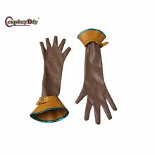 Cosplaydiy Game The Witcher 3: Wild Hunt Cirilla Gloves Adult Women Halloween Carnival Cosplay Accessories Custom Made J5(China)
