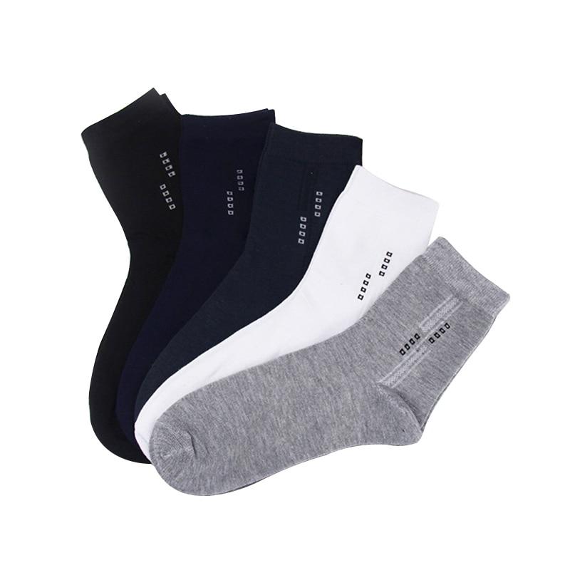 5Pair/lot High Quality Mens Business Cotton Socks for Man Brand Four Seasons Socks Men Solid Color Casual MEN Socks
