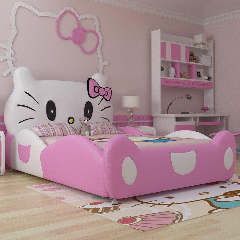 2017 Baru Desain Modren Desain Hello Kitty Pink Kulit Anak Anak