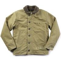 Винтаж Бронсон USN N 1 Deck Jacket WW2 военная форма мотоциклетные Для мужчин пальто 3 цвета