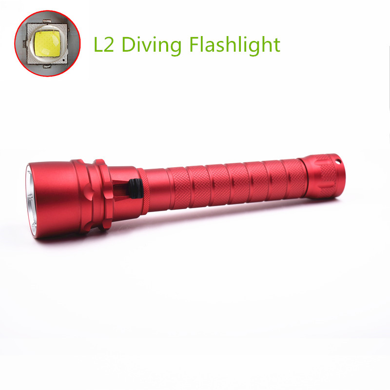 Waterproof XML L2 LED Flash Light 100M Underwater Diving Flashlight Torch Lanterna lampe torche With Stepless dimming switch high power 2000 lumen xml l2 led diving flashlight torch waterproof 80m depth underwater diver led flash light lampe torche