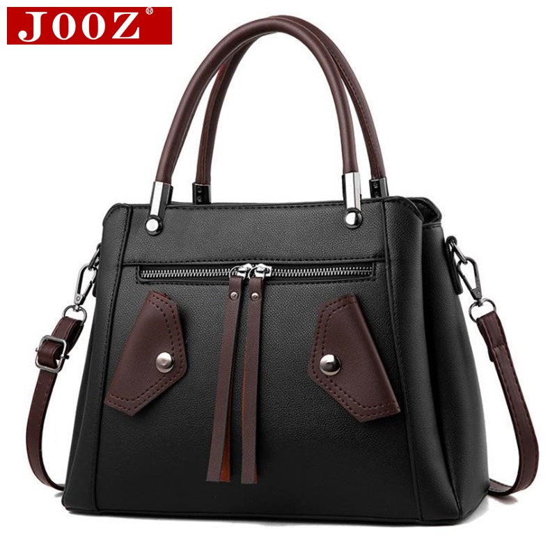 JOOZ Design Women Motorcycle Handbag famous brand PU Leather Ladies Vintage tassel Messenger bags female Shoulder bags women bag jooz brand luxury belts solid pu leather women handbag 3 pcs composite bags set female shoulder crossbody bag lady purse clutch