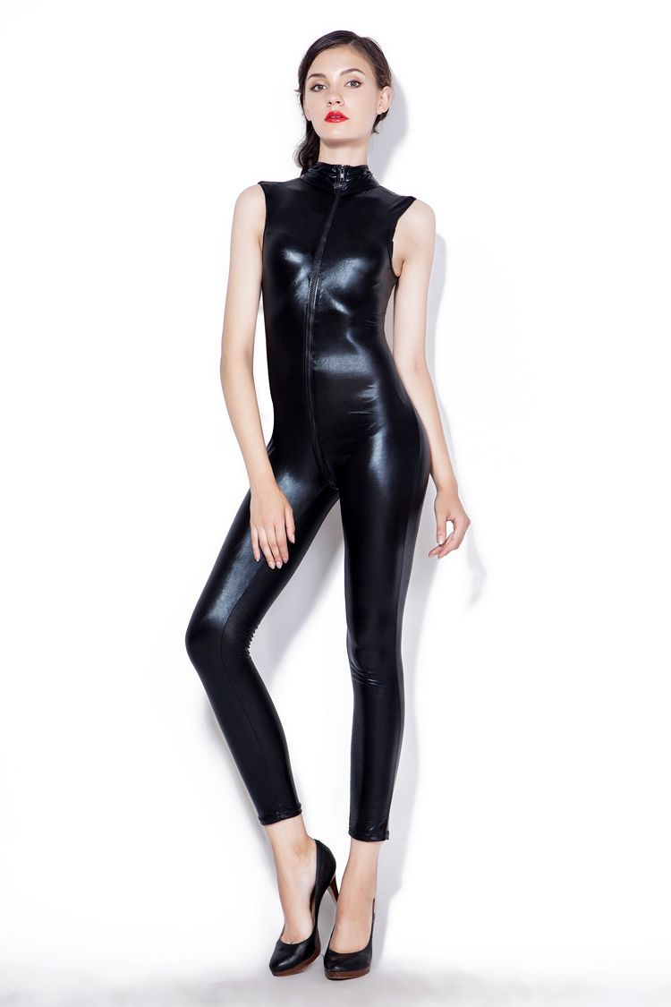 Sexy patent leather DS Black Tights locomotive Jumpsuit sexy lingerie Costume role-playing costume for women cosplay costume