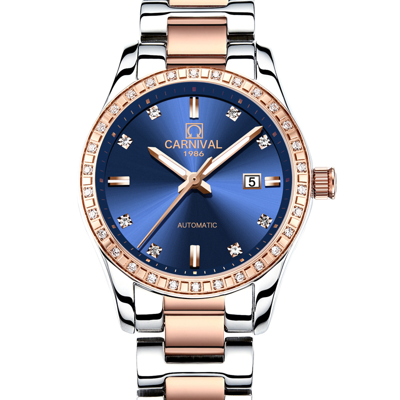 Marca de Luxo Feminino à Prova Suíça Carnaval Relógios Femininos Senhoras Relógio Mecânico Automático Dwaterproof Água 8685l-6