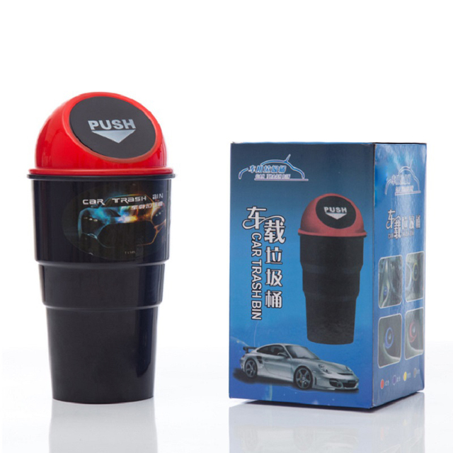 Car Trash ca  Trashbin Hot Selling  The Mini Auto Trash Can Garbage Can Container Interior Accessories Universal PP Car Dumpster