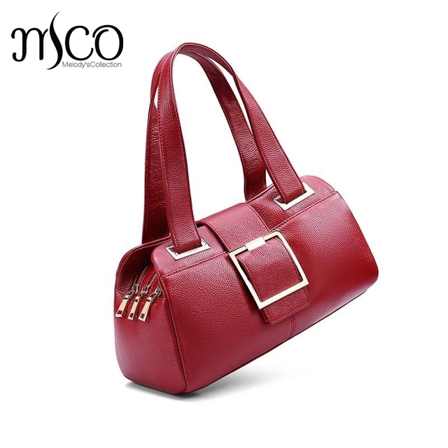 2016New Women Leather Bag Genuine Leather Handbags Woman Fashion Brand Design Ladies Shoulder Satchel Purse Female Bag sac femme