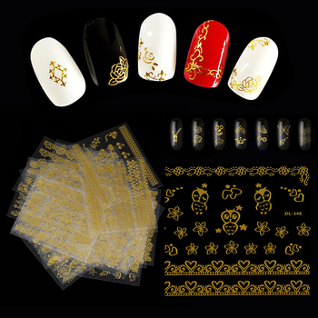 1 Set 3D Mixed Style Bronzing Nail Stickers Flower Sticker Transfer Sticker Manicure  DIY Nail Art Tips Beauty Manicure Decals Stickers & Decals