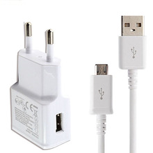 High Quality 2A EU Plug Travel Wall Charger Adapter Data Sync Micro Usb Cable For Samsung Galaxy S3 S5 S6 S7 I9500 Note3 4