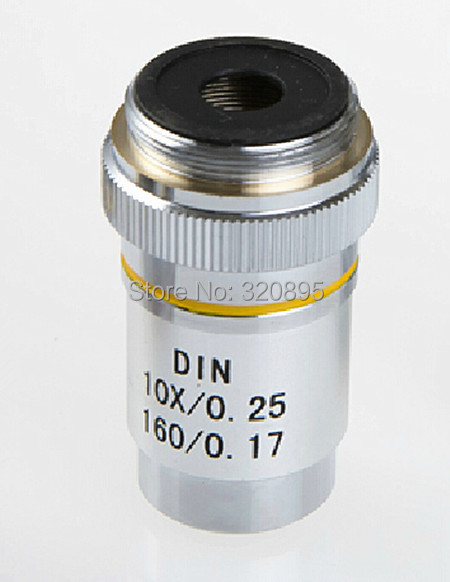 ФОТО 195 10X Oil Achromatic Objective Lens DIN10X / 0.25 160 / 0.17 Oil for Biological Microscope