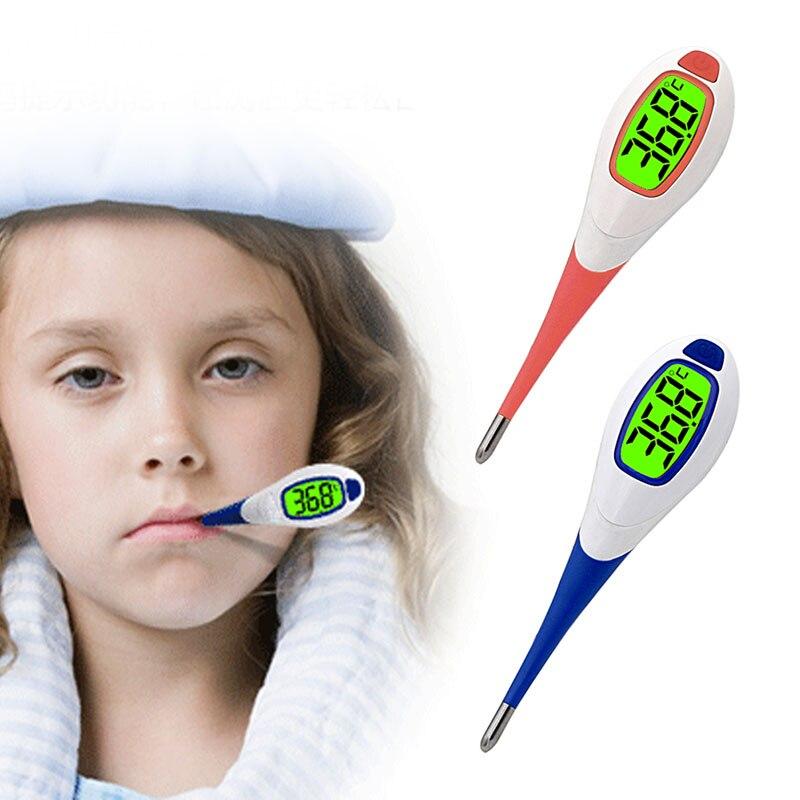 Детские взрослых лихорадка цифровой термометр оповещения Функция Средства ухода за кожей мягкие глава устные Алар