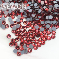 High Quality New color Indian Pink Color Hot fix Rhinestone ss20 Size Crystal material Iron On Rhinestone for Garments