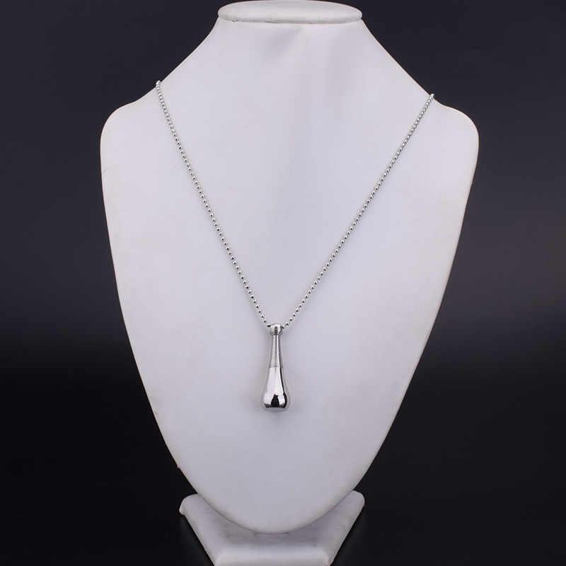 SOITIS Fashion urna na prochy pamiątkowy wisiorek naszyjnik ze stali nierdzewnej perfumy butelka biżuteria do kremacji biżuteria damska