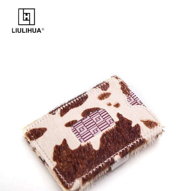 LLH Popular leather credit card holder with different colors