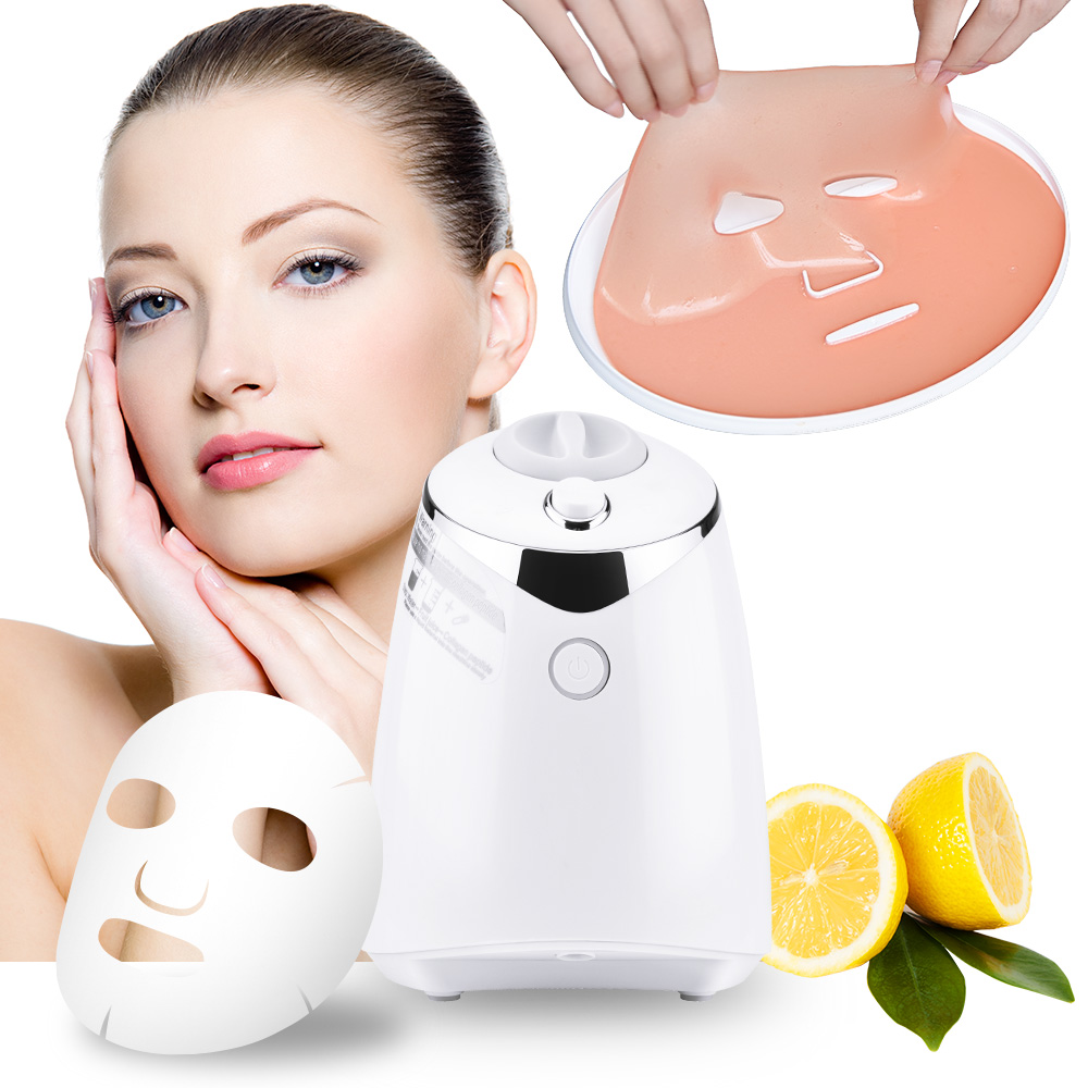 Electrical Automatic Fruit Mask Machine DIY Natural Fruit Vegetable Milk Facial Masker Maker With 32 pcs Collagen Tablets rbm 767a 2200w home automatic multi functional fruit and vegetable ice sand bean milk mixer fried fruit juice broken machine 2l