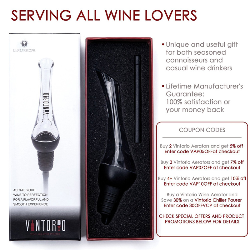 My House, You're House Store Wine AeratorPourer Decanter Spout Home Party Banquet Barware Kitchenware