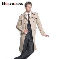 Tranchée Manteau Hommes Classique Double Breasted Hommes Long Manteau Vêtements Pour Hommes À Long Vestes et Manteaux de Style Britannique Pardessus S-6XL taille
