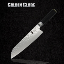 "2016 7"" Stainless Steel Damascus Steel Kitchen Chef Knife multifunctional Janpanese Fruit Vegetables Knives Cleaver Knife"