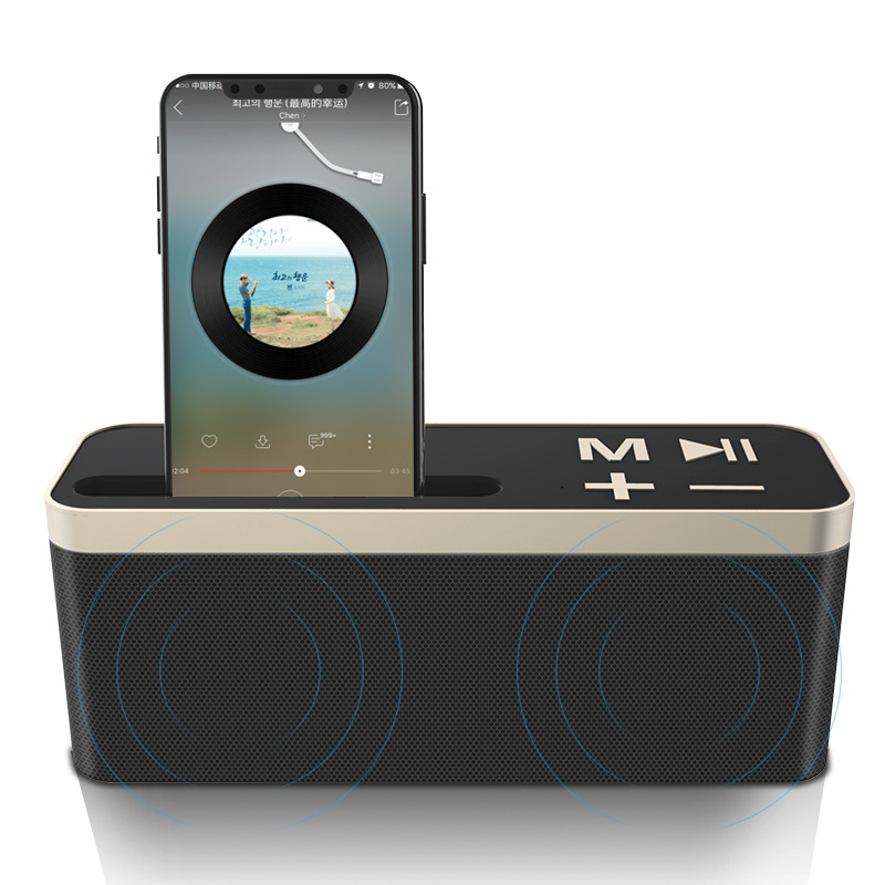 Protable Bluetooth Speaker Wireless Speaker Bass Stereo Music Column Loudspeaker caixa de som with TF Cart Radio for smartphone remote control vibration speaker adin mini portable fm radio speaker mp3 stereo small bass hifi metal tf speaker caixa de som