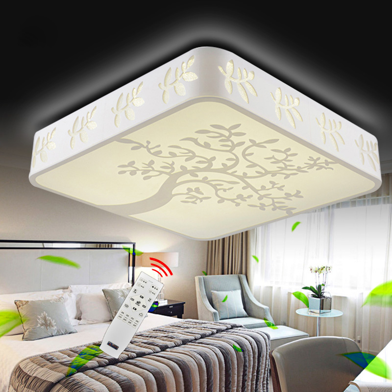 Round/Square/Rectangle Hollow PMMA Surface Mounted LED Ceiling Light, RGB/Cool white/Smart Remote for home luminaire (Optional) stylish golden hollow rounded rectangle hasp bracelet for women