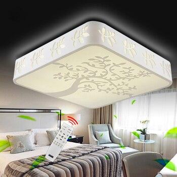 Runde/Quadratische/Rechteck Hohl PMMA Aufbau Led-deckenleuchte, RGB/Kühles weißes/Smart Fernbedienung für home leuchte (Optional)