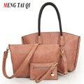 Женщины посыльного сумки сумки женщины известные бренды кожа композитный сумка 3 компл. леди плечо сумки Европейский и Американский стиль 4