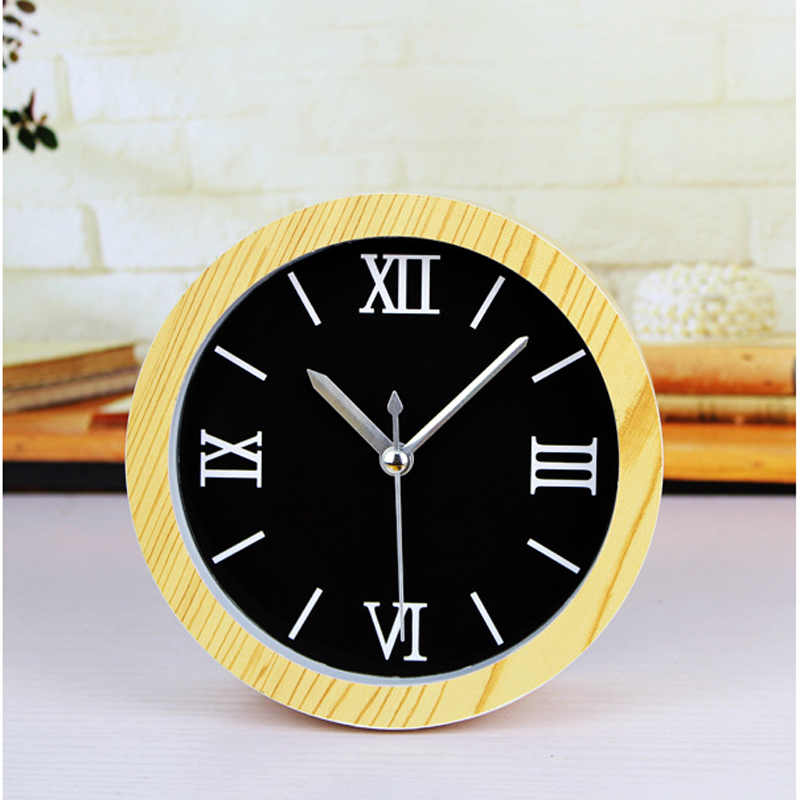 Small Alarm clock Vintage Desktop Digital Watch Round Table Clock bedside office Clocks Saat Reloj Masa Saati Relogio de mesa