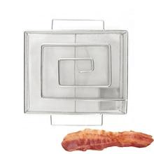 Купить с кэшбэком BBQ Cold Smoke Generator For Bacon Fish Creative Salmon Meat BBQ Meshes Accessories Tools Smoking Salmon Meat Burn Smoker