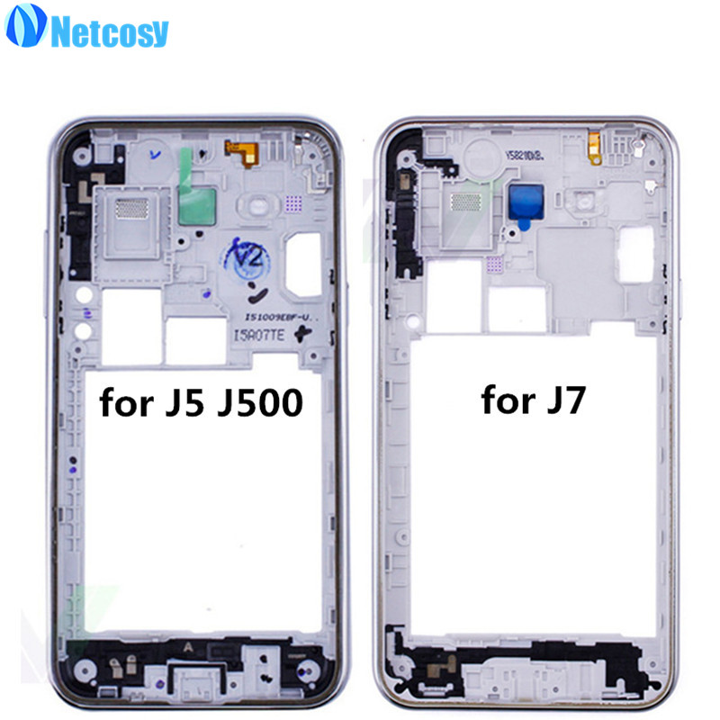 Netcosy Middle Plate Frame Bezel Housing For Samsung Galaxy J5 J500 J7 Mid Frame Cover Replacemenrt Repair Phones Accessories
