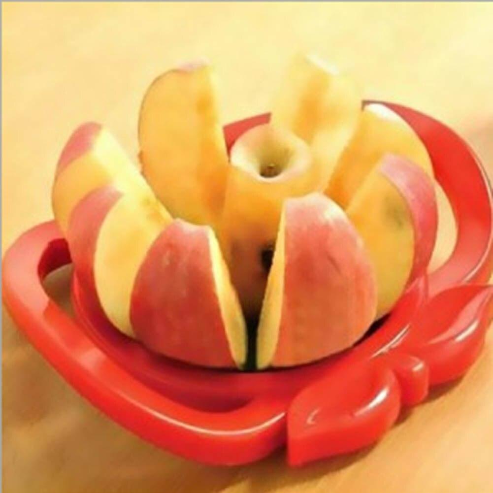 Color Random Apple Cutter Plastic +Stainless Steel Fruit Slicer Multi-function Stainless Steel Shredders Slicers Apple Device
