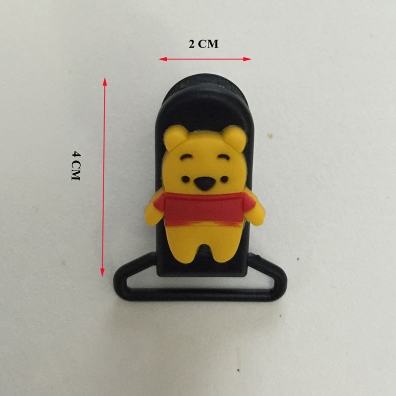 Klip Pacifier Cute Dummy Pacifier Holder Customized Baby Cartoon Bibs - Memakan kanak-kanak - Foto 5