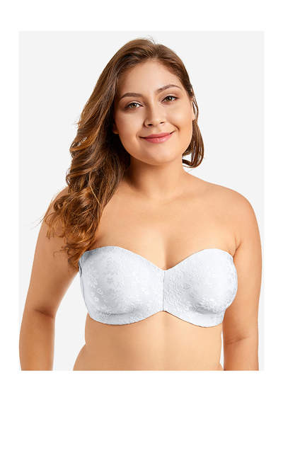 2884806e06a Sexy 1 2 Cup Strapless Invisible Bra Seamless Thin Plus Size Wedding Bras  32 34