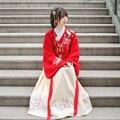 2016 китайский танец костюм для женщин фея тан костюм hanfu dress guzheng костюм феи шифоновая юбка китайский народный танец