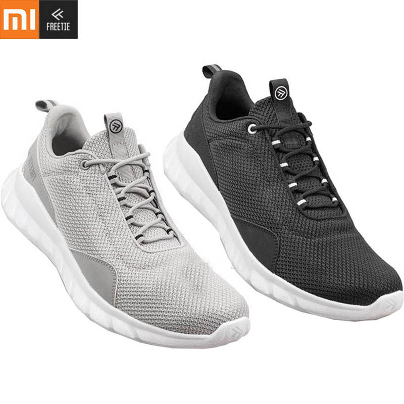Xiaomi FREETIE Sports Shoes Lightweight Ventilate Elastic Knitting Shoes Breathable Refreshing City Running Sneaker For Man H20