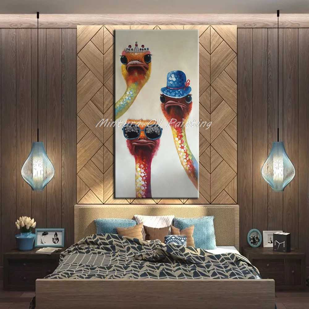 Mintura Large Size Hand Painted Camel Animal Oil Painting on Canvas Modern Abstract Wall Art Pictures For Living Room Home Decor