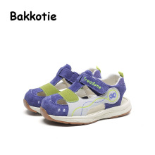 Bakkotie 2017 New Fashion Summer Genuine Leather Baby Boy Leisure Shoe Blue Kid Brand Anti kick Leisure First Walkers Girl Pink
