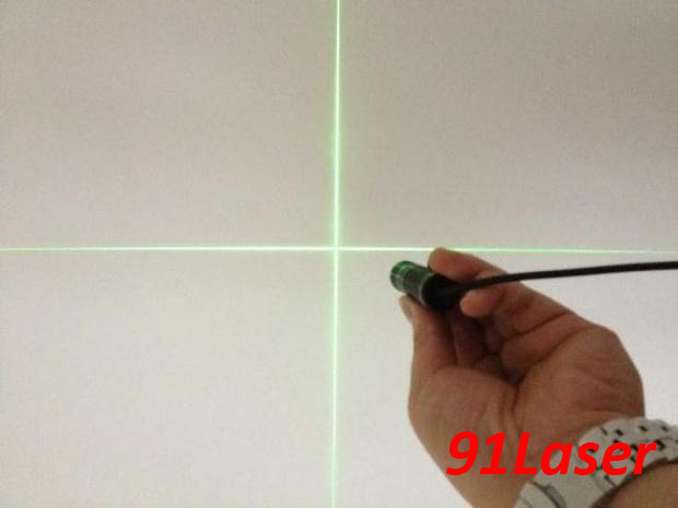 ФОТО 532nm Green laser module 20mW Cross with power adapter and laser bracket