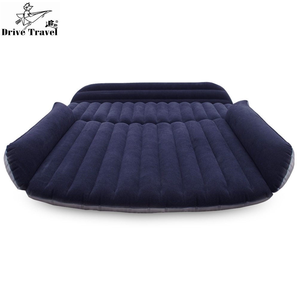Deflatable Air Inflation Car Bed Mattress Back Seat Camping Flocking PVC Original Drive Travel Car Seat Cover Automobile drive travel deflatable air inflation bed mattress suv camping pvc material car seat cover cushion with car electric air pump