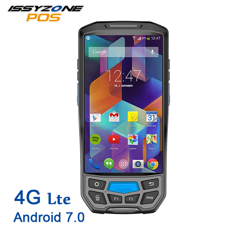 ISSYZONEPOS PDA Android 7.0 Pos Terminal Wireless Barcode Scanner 4G NFC HUF RFID 2D Rugged Handheld Mobile Barcode Reader pda nfc rfid free sdk android mobile thermal printer handheld pos terminal wireless bluetooth barcode scanner wifi android pda