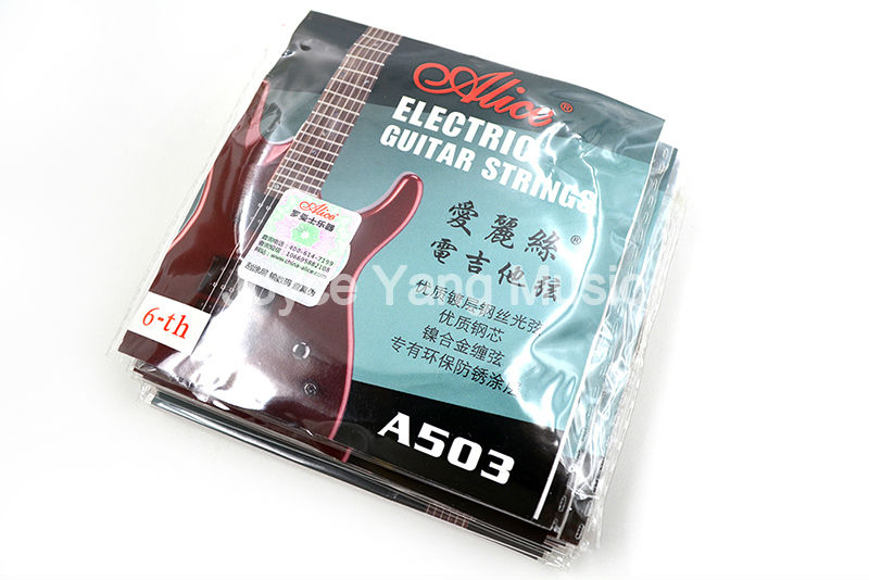 10 Pack Alice A503-L/046 Electric Guitar Strings E-6th Single Nickel Alloy Wound String Free Shipping