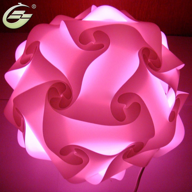 New Rose Red Iq Pendant Light Lamp Shade Modern Design Deco Puzzle