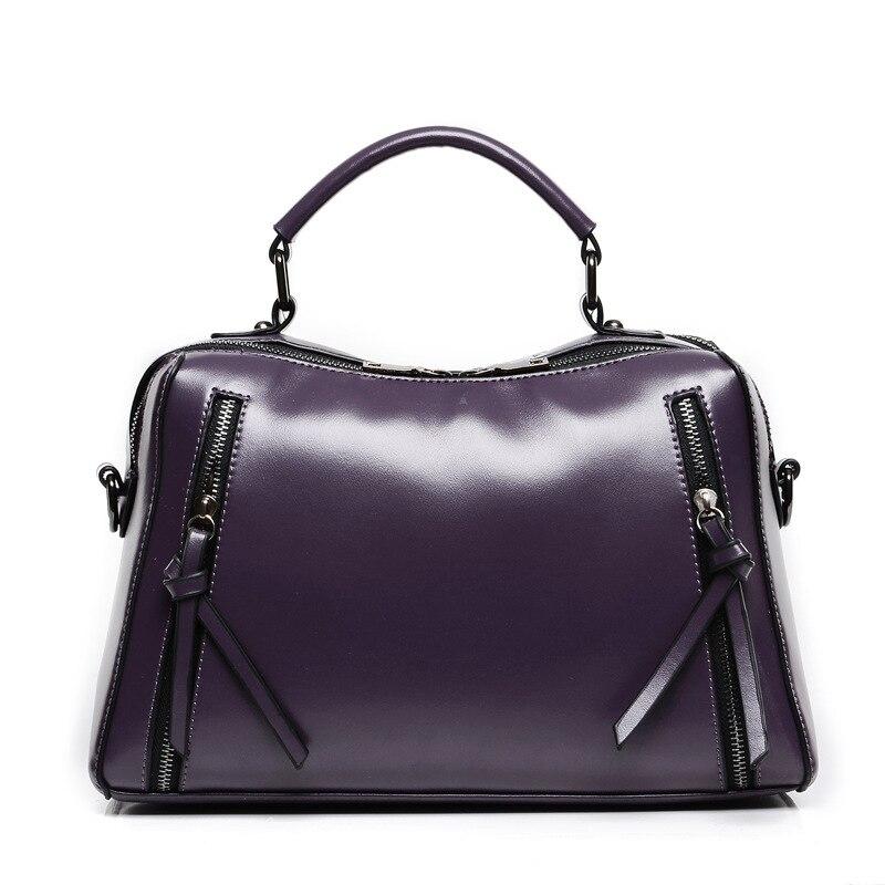 ФОТО Unique design Portable woman shoulder bag cowhide leather handbag Double zipper Genuine leather bag Multi color candy selection